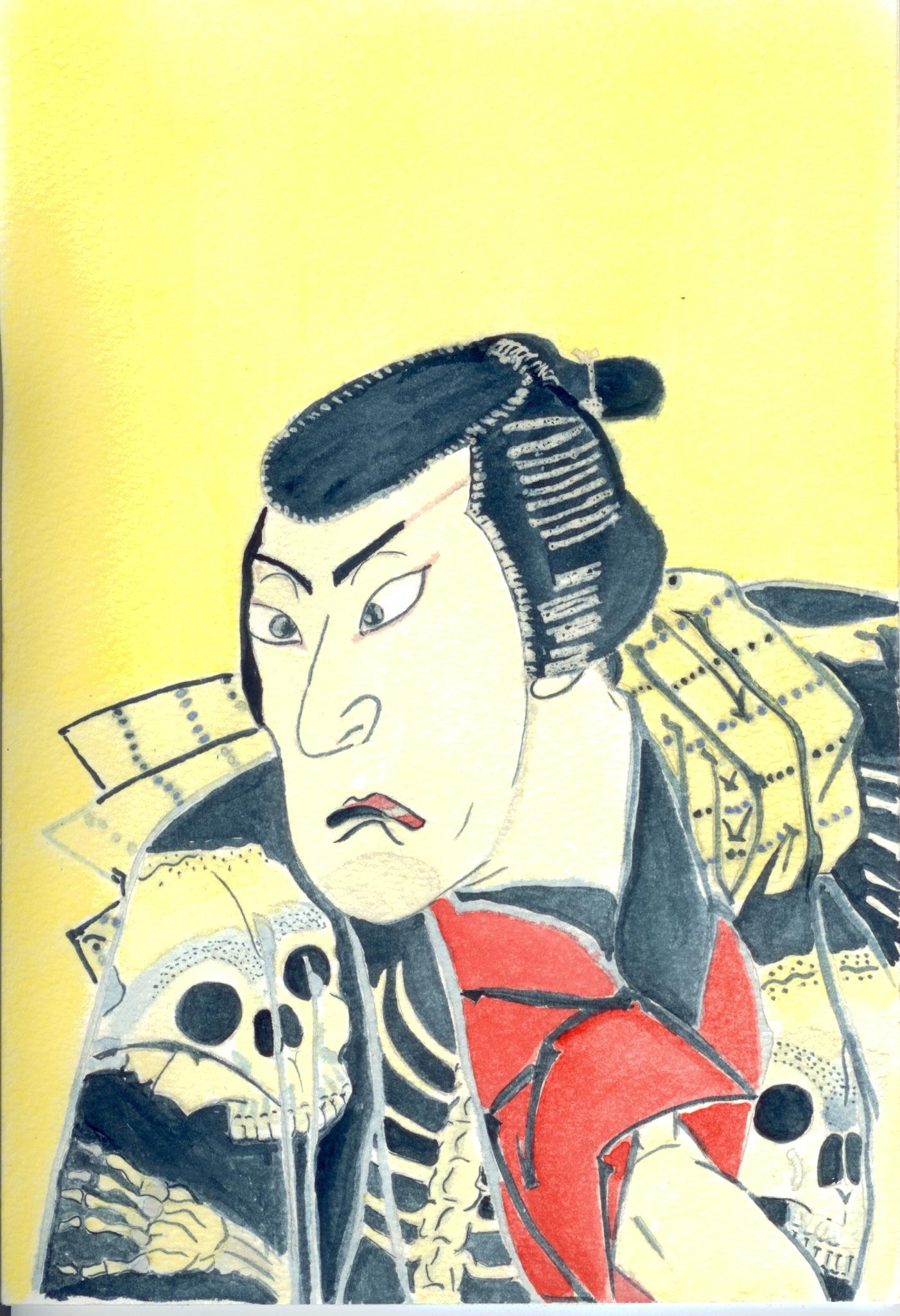 Ichikawa Ebijūrō I as Tōken (China Dog) Jūbei by Shunkōsai Hokushū (Japanese, active 1808–32)